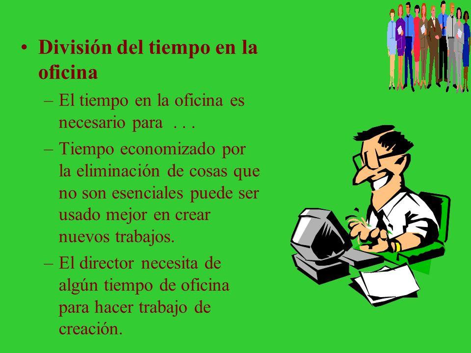 El director como un trabajador en la oficina Se requiere organización –Organización es la llave para el éxito en el cumplimiento de las responsabilida