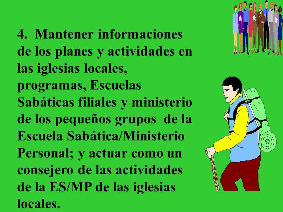 Ideas generales –Recuerde: Los oficiales de la iglesia de ES/MP son importantes.