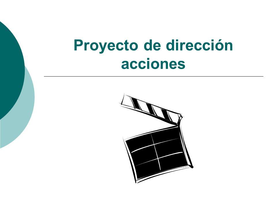 Proyecto de dirección acciones