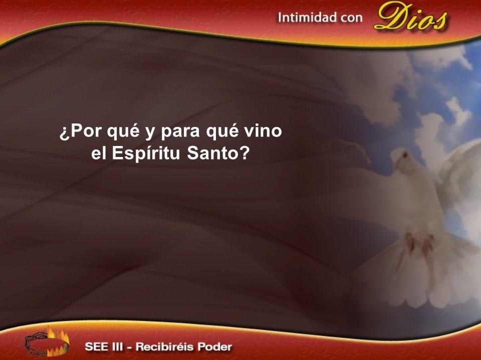 La venida del Espíritu Santo trae al alma un nuevo sentido de pecado.