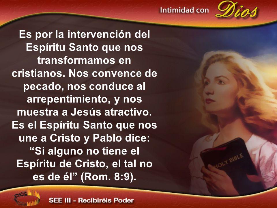 Es por la intervención del Espíritu Santo que nos transformamos en cristianos.