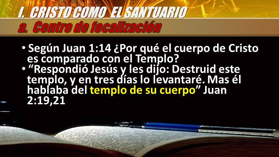 Según Juan 1:14 ¿Por qué el cuerpo de Cristo es comparado con el Templo? Respondió Jesús y les dijo: Destruid este templo, y en tres días lo levantaré