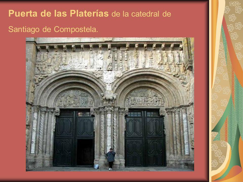 Puerta de las Platerías de la catedral de Santiago de Compostela.