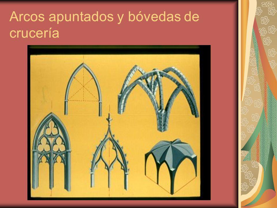 Arcos apuntados y bóvedas de crucería