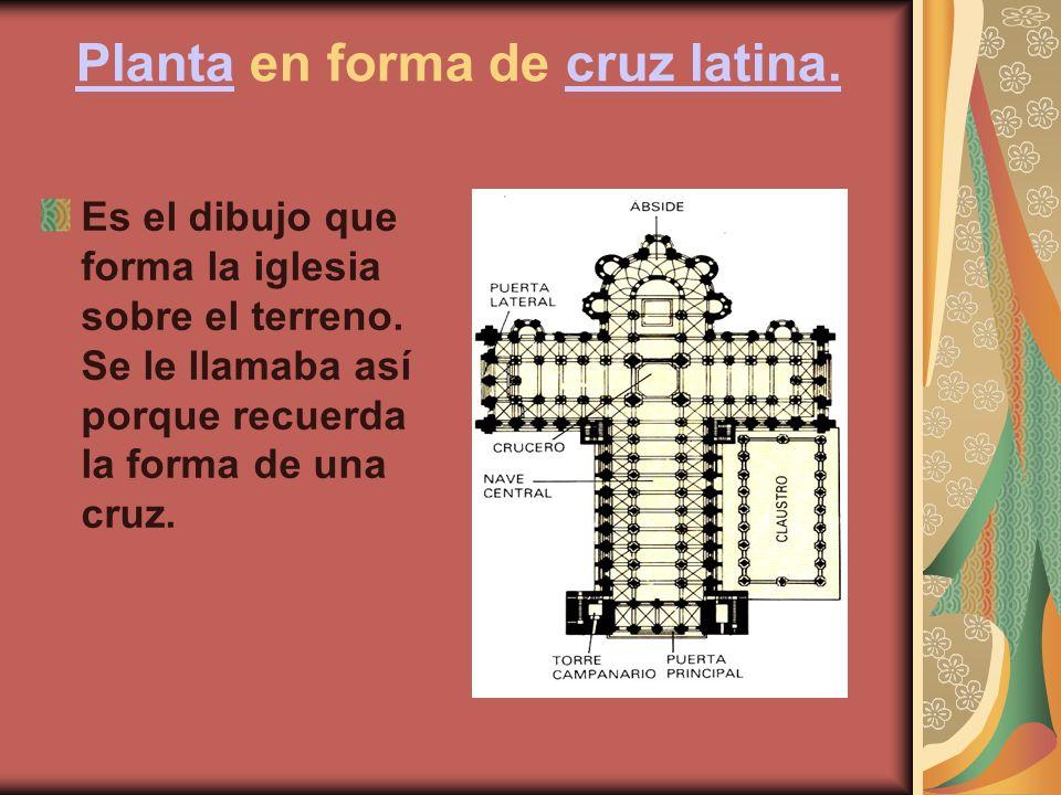 PlantaPlanta en forma de cruz latina.cruz latina.