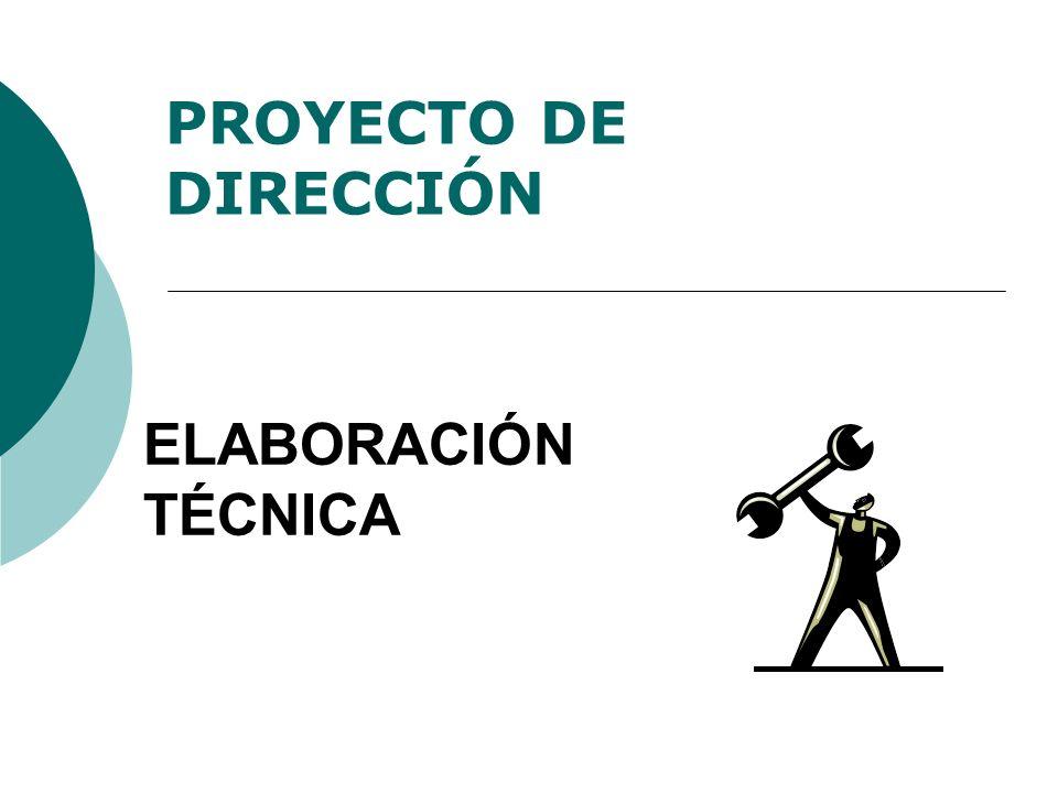 ELABORACIÓN TÉCNICA PROYECTO DE DIRECCIÓN