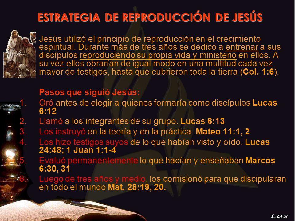 Jesús utilizó el principio de reproducción en el crecimiento espiritual. Durante más de tres años se dedicó a entrenar a sus discípulos reproduciendo