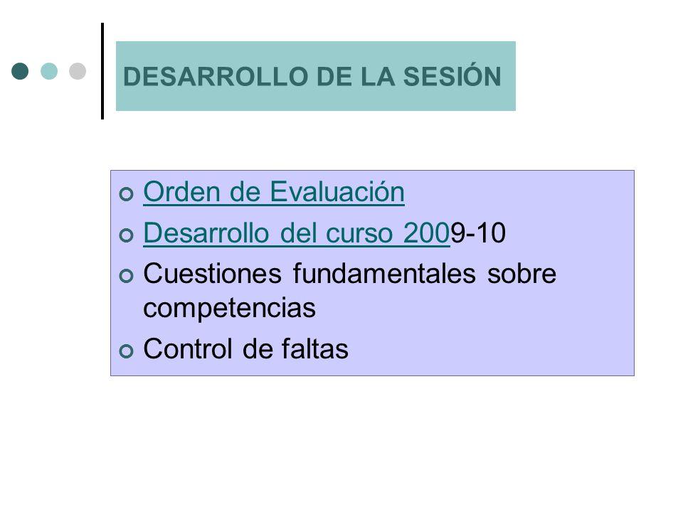 ORDEN 1029/2008 QUE REGULA LA EVALUACIÓN EN LA ESO (ORDEN 3142/2008 CORRECCIÓN) Se aplica a todos los centros y todos los cursos de ESO.