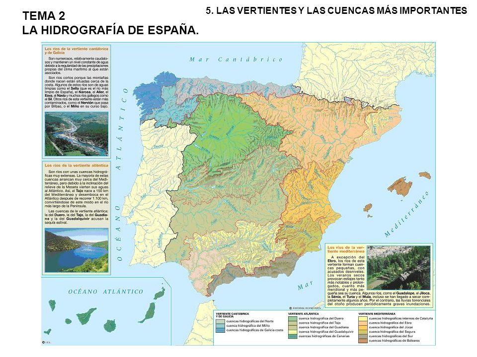 VERTIENTE CANTÁBRICO-GALLEGA: la forman las cuencas de los ríos que naciendo en la cordillera Cantábrica desembocan en el Mar Cantábrico y en el Atlántico gallego.