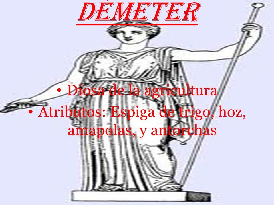 HADES Dios del mundo subterráneo y los infiernos Atributos: Trono, Cancerbero y casco de la invisibilidad Su mujer era Perséfone (hija de Démeter, a l