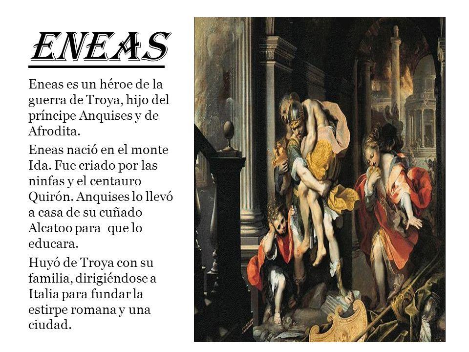 HÉROES DE ROMA Rómulo y Remo: Hijos de Rea Silvia y el dios Marte. El rey Amulio los quiso asesinar. Fueron salvados por una loba y criados por un pas