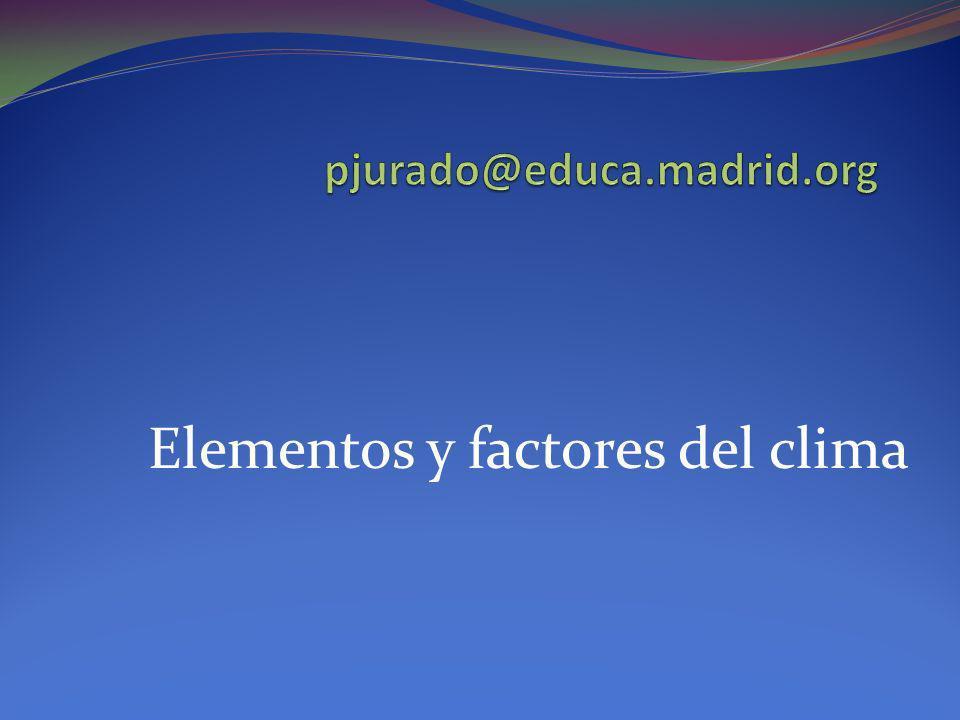 Elementos y factores del clima La superficie que constituye el frente no es vertical sino inclinada.