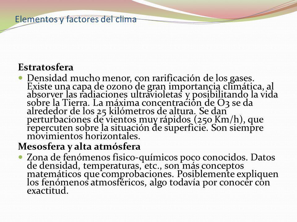Elementos y factores del clima LA CIRCULACIÓN GENERAL DE LA ATMÓSFERA