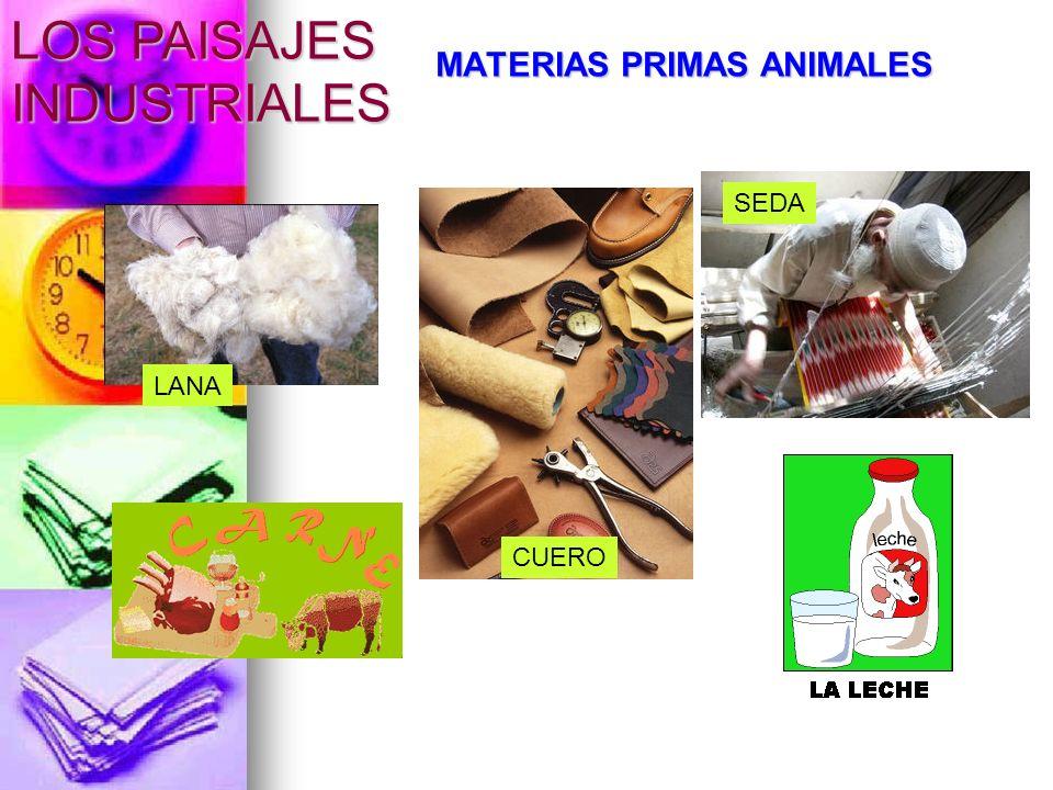 MATERIAS PRIMAS ANIMALES LANA CUERO SEDA LOS PAISAJES INDUSTRIALES