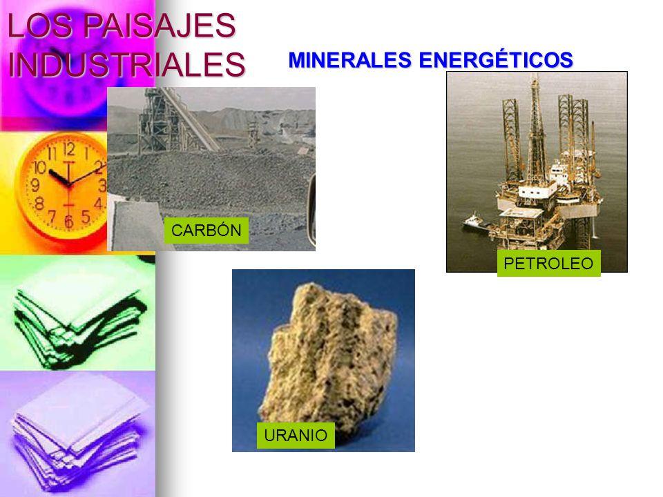 MINERALES ENERGÉTICOS CARBÓN PETROLEO URANIO LOS PAISAJES INDUSTRIALES