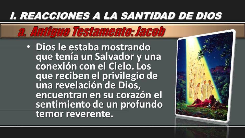 Dios le estaba mostrando que tenía un Salvador y una conexión con el Cielo. Los que reciben el privilegio de una revelación de Dios, encuentran en su