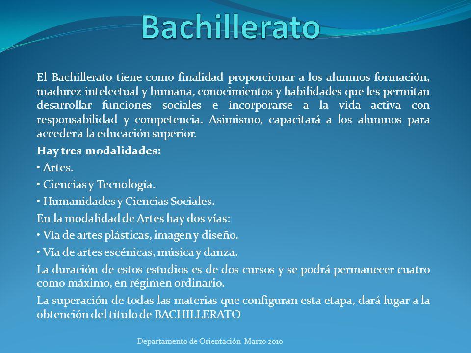 Organización del Bachillerato Las materias que se cursan en Bachillerato se dividen en: Materias comunes: cinco, en primero, y cuatro, en segundo.