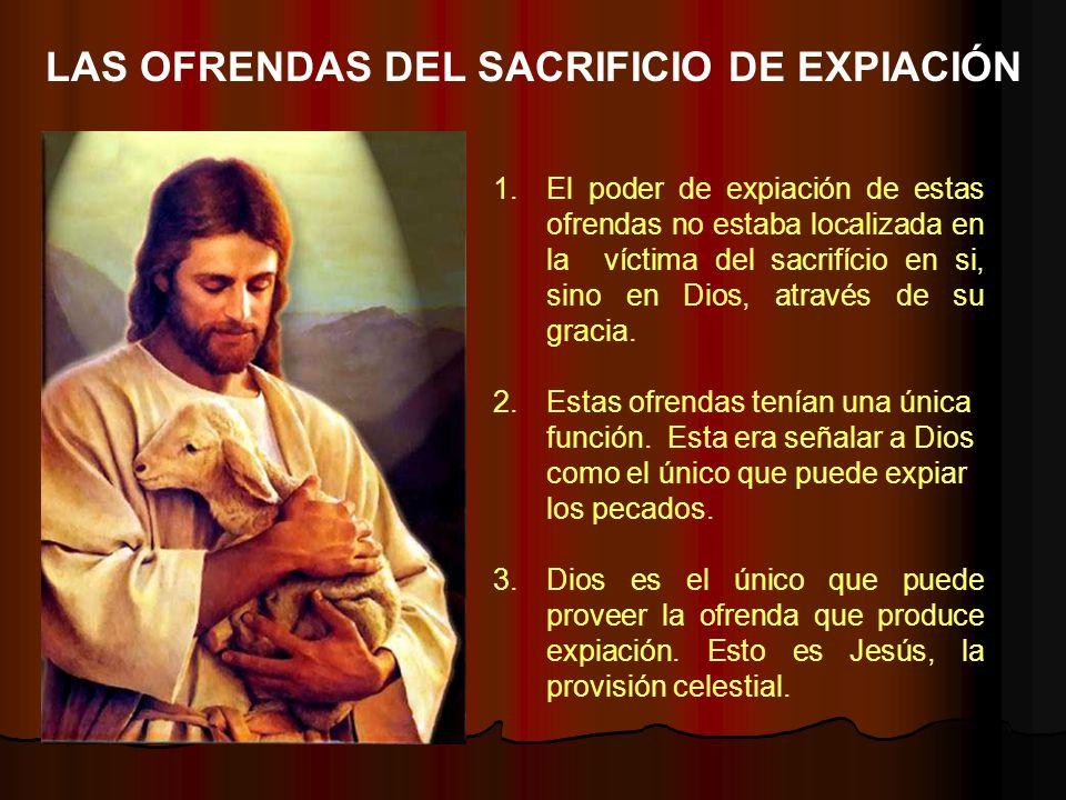 1.El poder de expiación de estas ofrendas no estaba localizada en la víctima del sacrifício en si, sino en Dios, através de su gracia. 2.Estas ofrenda
