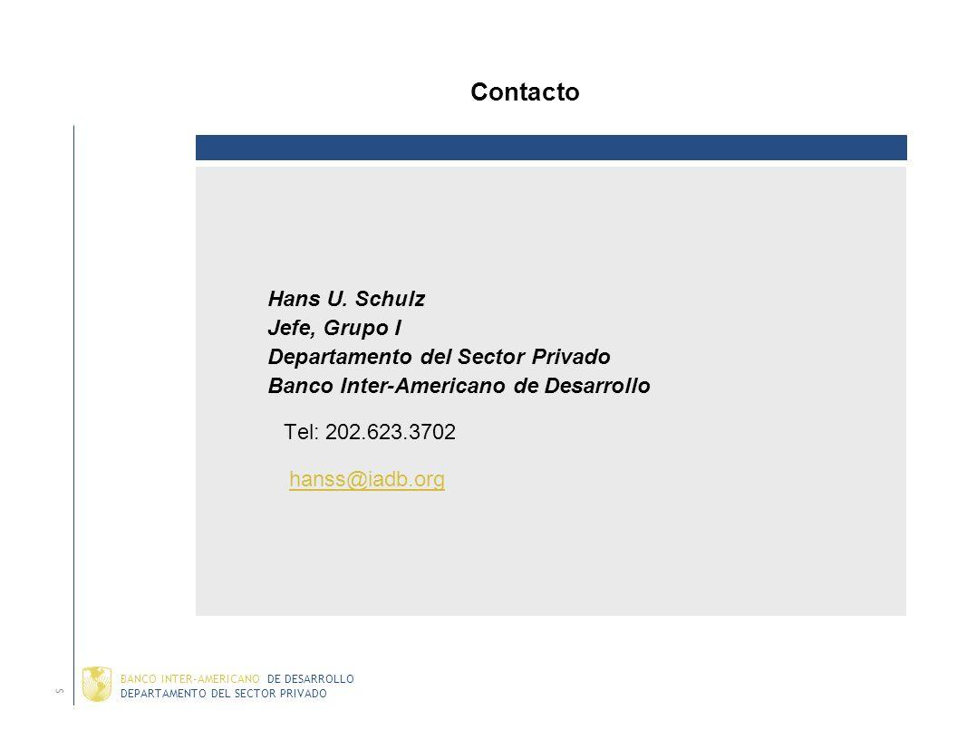 DEPARTAMENTO DEL SECTOR PRIVADO BANCO INTER-AMERICANO DE DESARROLLO Graña y Montero (2003) País: Peru Descripción: Bono corporativo estructurado (fluj