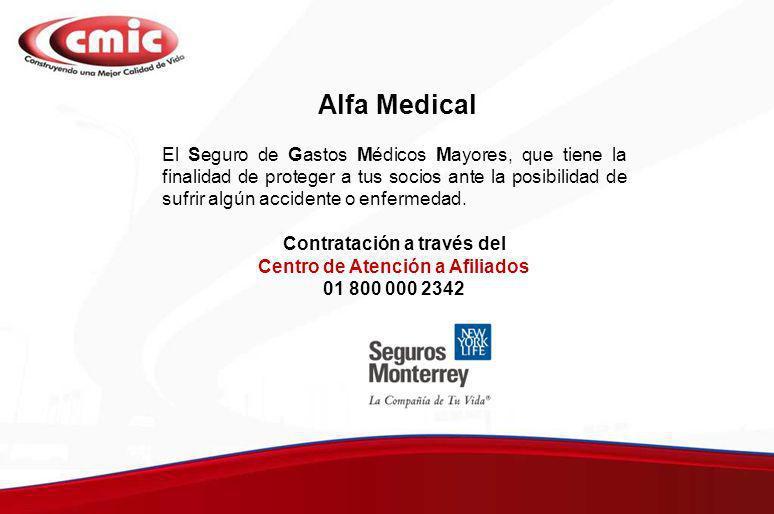 Alfa Medical El Seguro de Gastos Médicos Mayores, que tiene la finalidad de proteger a tus socios ante la posibilidad de sufrir algún accidente o enfe