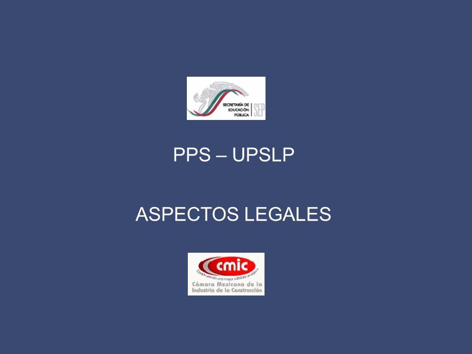 PPS – UPSLP ASPECTOS LEGALES