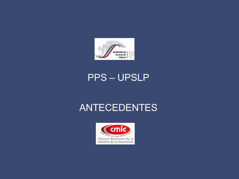 PPS – UPSLP ANTECEDENTES