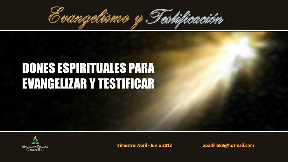 Este poder es para testificar, proporciona: (1) poder interior, (2) poder para proclamar el Evangelio, (3) poder para llevar a otros a Dios.