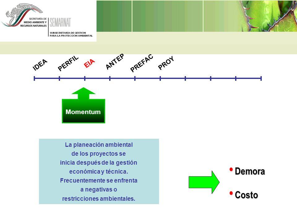 La planeación ambiental de los proyectos se inicia después de la gestión económica y técnica. Frecuentemente se enfrenta a negativas o restricciones a