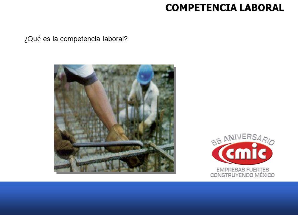 ¿ Qu é es la competencia laboral? COMPETENCIA LABORAL