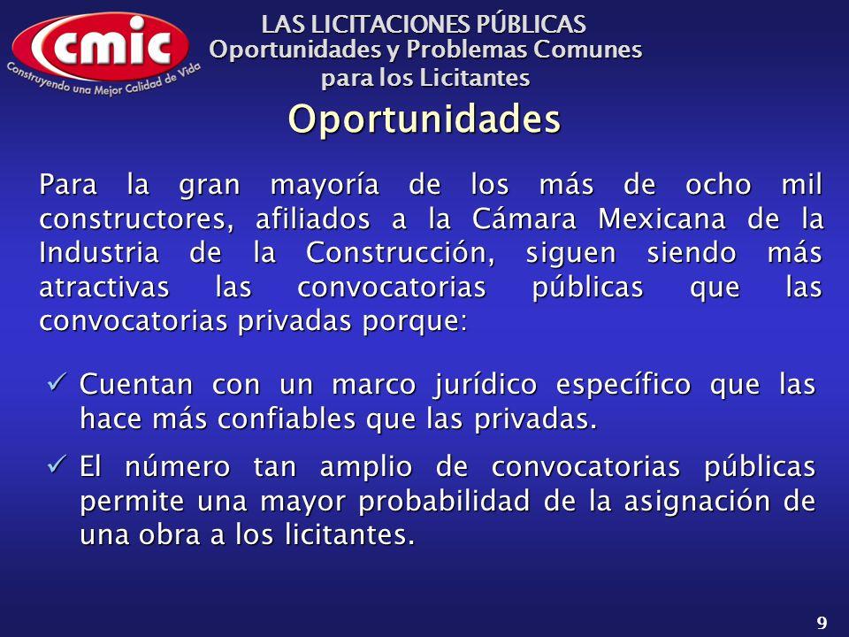 LAS LICITACIONES PÚBLICAS Oportunidades y Problemas Comunes para los Licitantes 30 Marco Jur í dico y Normatividad.