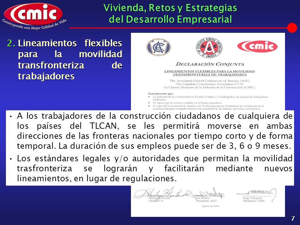 Vivienda, Retos y Estrategias del Desarrollo Empresarial 18 El 18 de Agosto de 2004 qued ó formalmente instalada la Comisi ó n Mixta de la Secretar í a de la Reforma Agraria y la C á mara Mexicana de la Industria de la Construcci ó n.