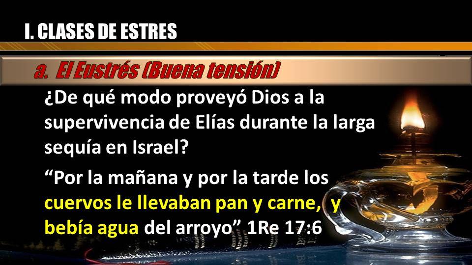 ¿De qué modo proveyó Dios a la supervivencia de Elías durante la larga sequía en Israel? Por la mañana y por la tarde los cuervos le llevaban pan y ca