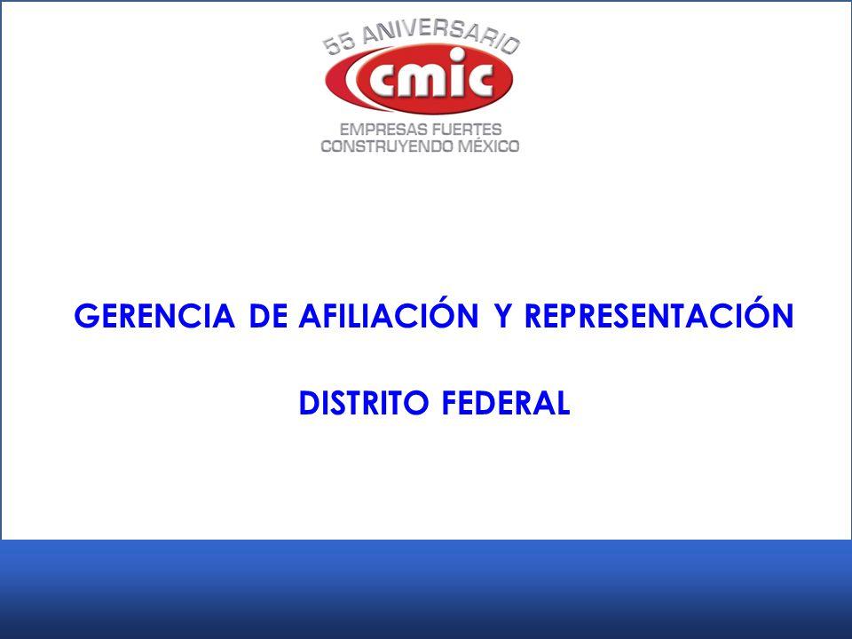 GERENCIA DE AFILIACIÓN Y REPRESENTACIÓN DISTRITO FEDERAL