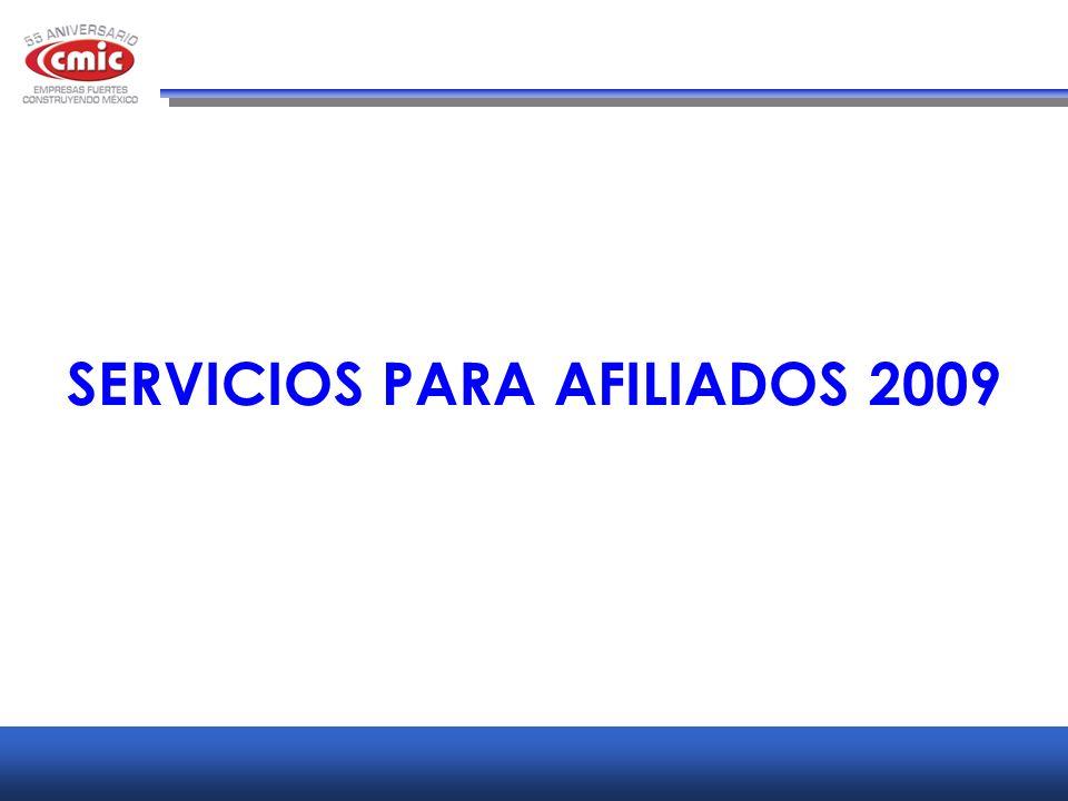 SERVICIOS PARA AFILIADOS 2009