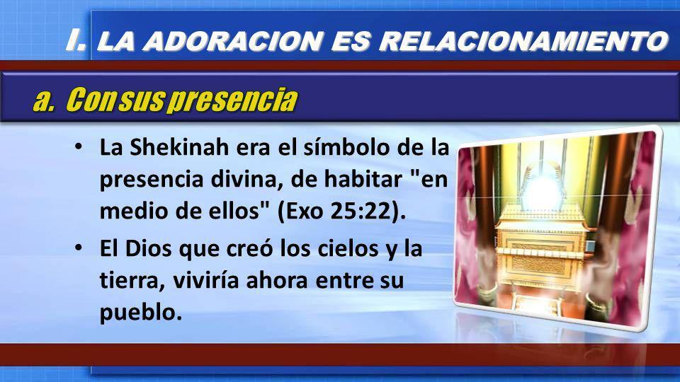 La Shekinah era el símbolo de la presencia divina, de habitar