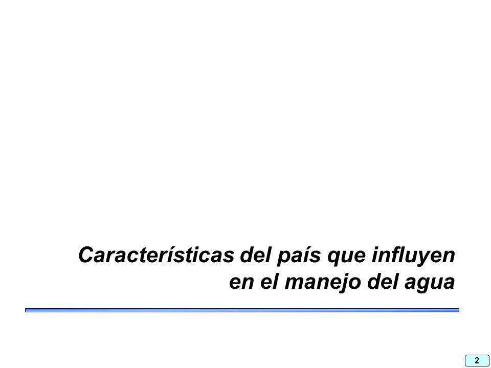 2 Características del país que influyen en el manejo del agua