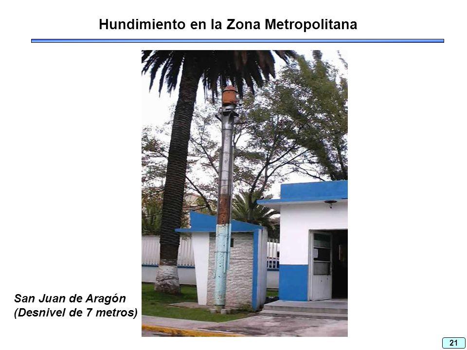 21 Hundimiento en la Zona Metropolitana San Juan de Aragón (Desnivel de 7 metros)