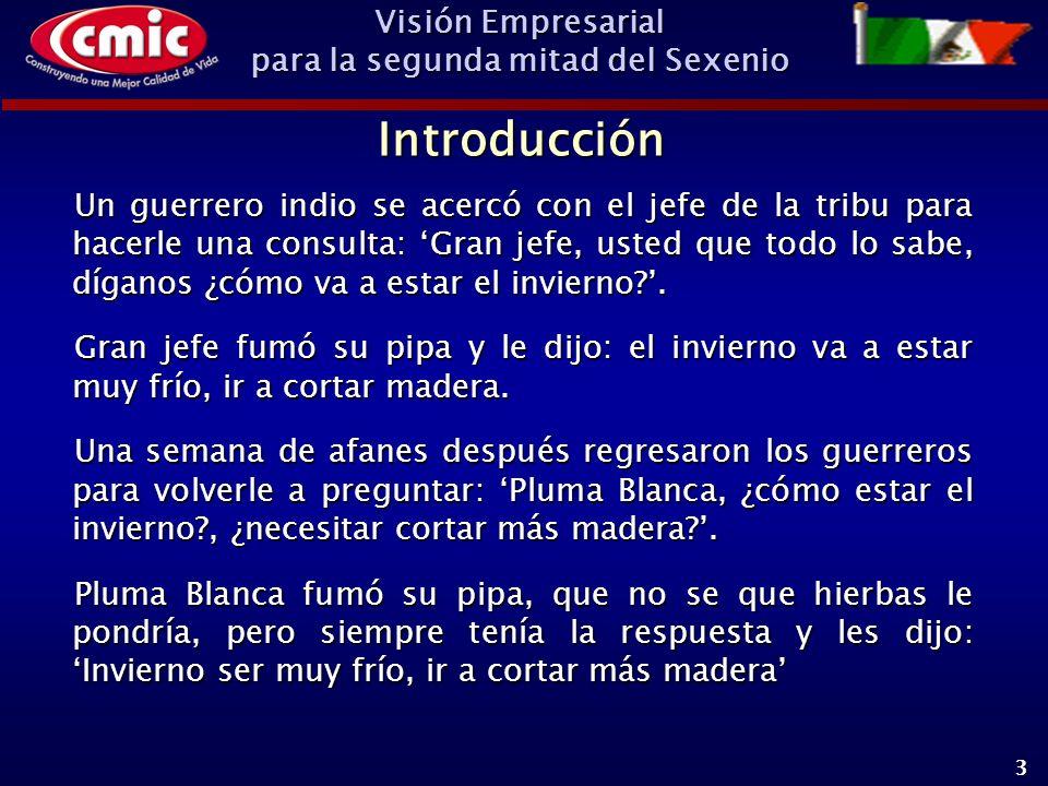 Visión Empresarial para la segunda mitad del Sexenio 24 ¿Qué esperar de los Empresarios como actores eficaces de la Transición Mexicana.