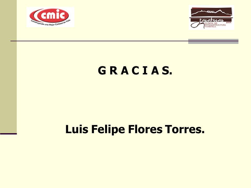G R A C I A S. Luis Felipe Flores Torres.