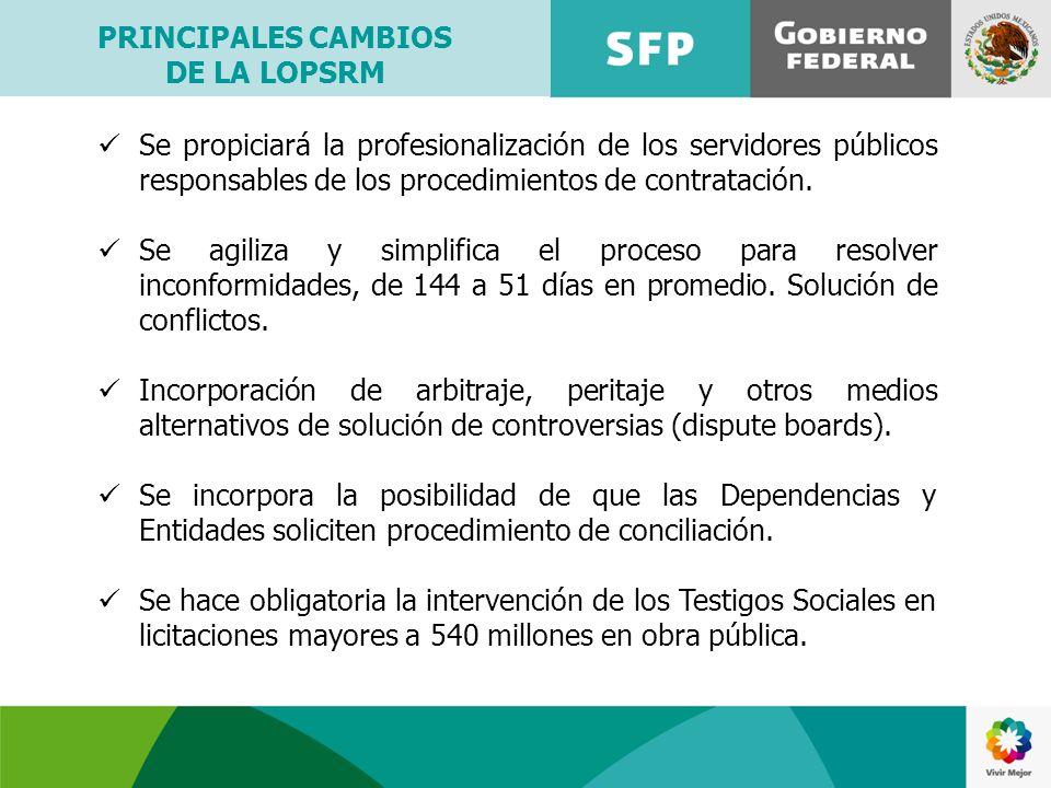 Se propiciará la profesionalización de los servidores públicos responsables de los procedimientos de contratación. Se agiliza y simplifica el proceso