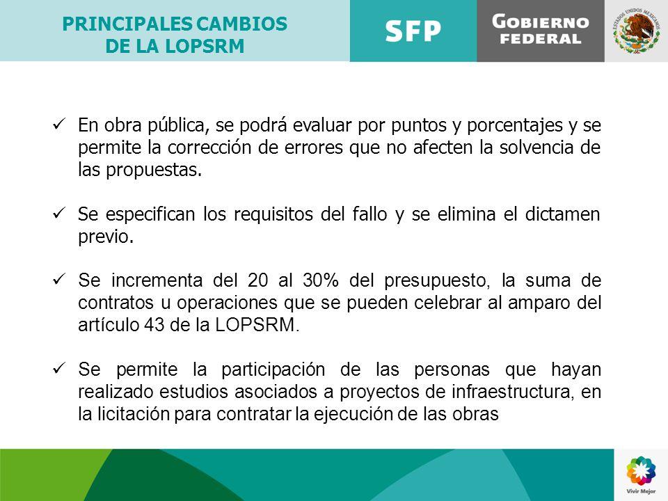 En obra pública, se podrá evaluar por puntos y porcentajes y se permite la corrección de errores que no afecten la solvencia de las propuestas. Se esp