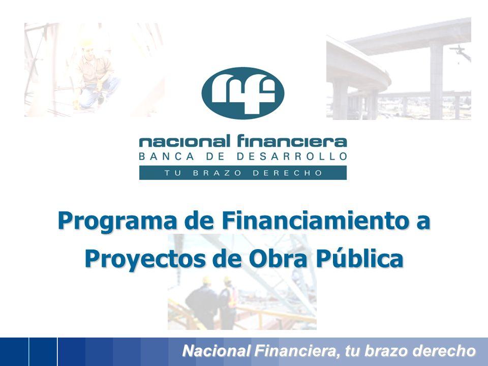 Nacional Financiera, tu brazo derecho Programa de Financiamiento a Proyectos de Obra Pública