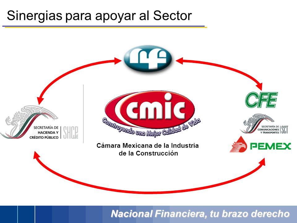 Nacional Financiera, tu brazo derecho Sinergias para apoyar al Sector Cámara Mexicana de la Industria de la Construcción