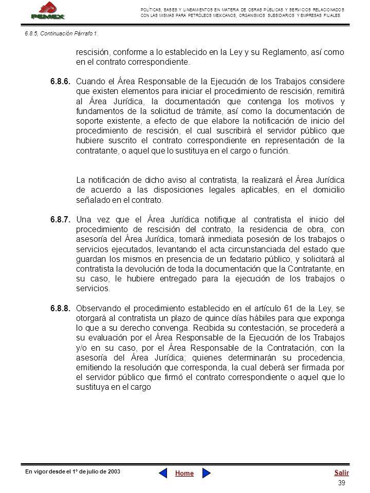 39 POLÍTICAS, BASES Y LINEAMIENTOS EN MATERIA DE OBRAS PÚBLICAS Y SERVICIOS RELACIONADOS CON LAS MISMAS PARA PETRÓLEOS MEXICANOS, ORGANISMOS SUBSIDIAR