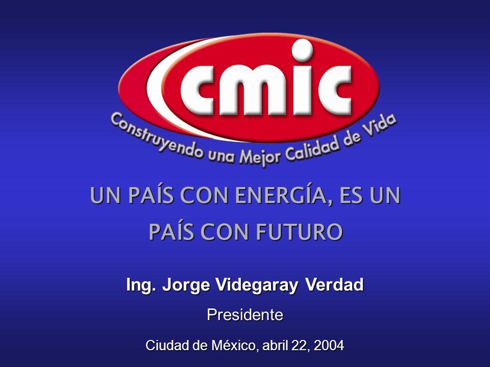 UN PAÍS CON ENERGÍA, ES UN PAÍS CON FUTURO Ing.