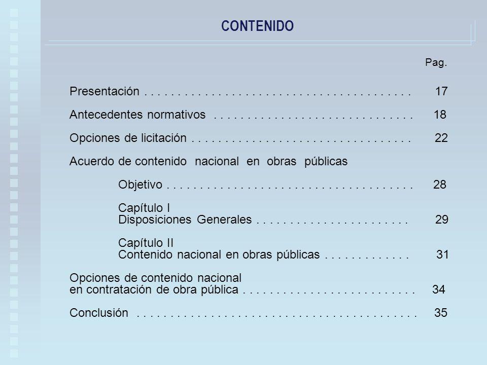 CONTENIDO Presentación........................................