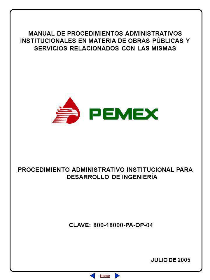Home PROCEDIMIENTO ADMINISTRATIVO INSTITUCIONAL PARA DESARROLLO DE INGENIERÍA MANUAL DE PROCEDIMIENTOS ADMINISTRATIVOS INSTITUCIONALES EN MATERIA DE O