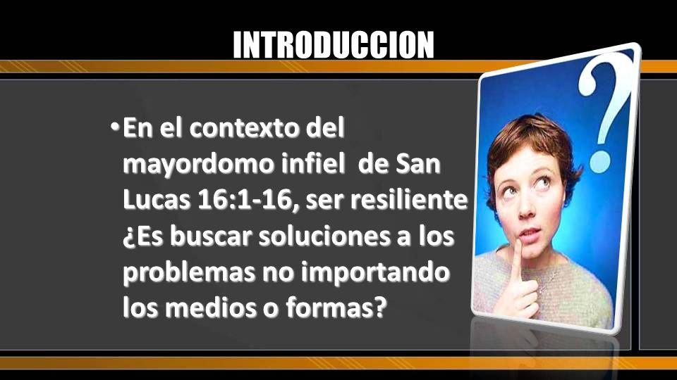 El propósito de la lección es saber desarrollar la resiliencia cristiana INTRODUCCION