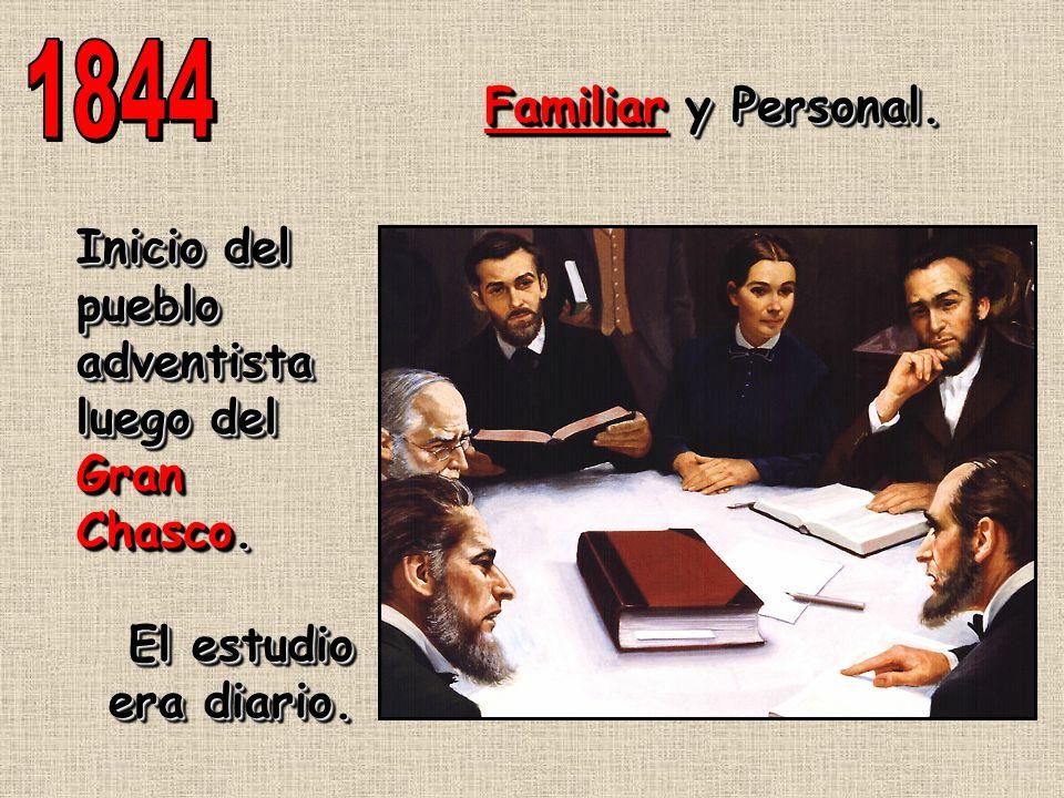 Inicio del pueblo adventista luego del Gran Chasco. El estudio era diario. Inicio del pueblo adventista luego del Gran Chasco. El estudio era diario.