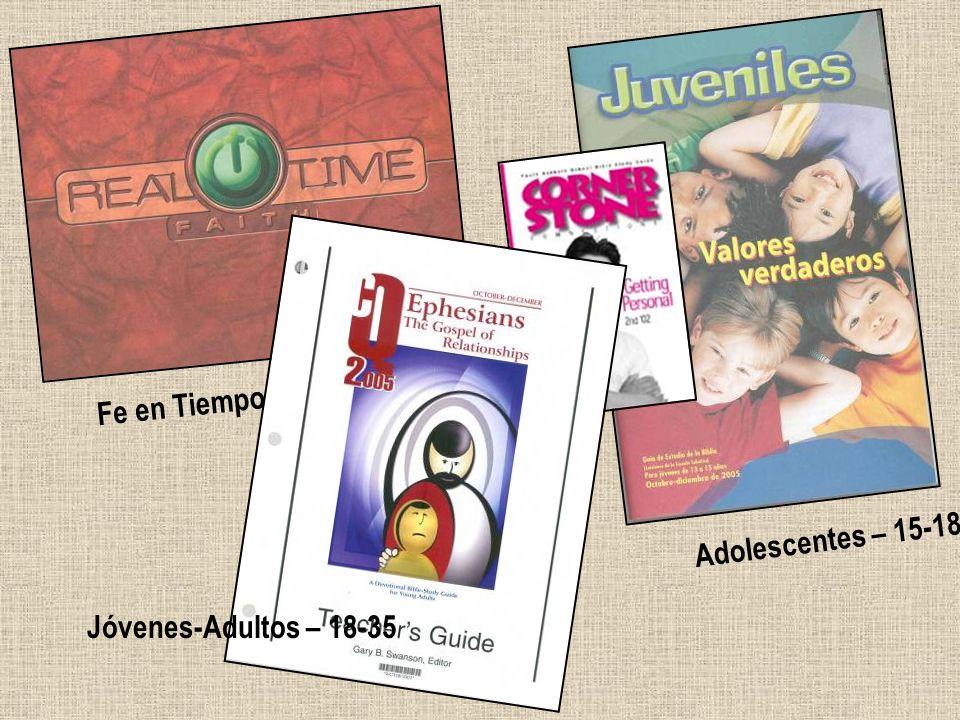 Fe en Tiempo Real – 13-14 Adolescentes – 15-18 Jóvenes-Adultos – 18-35